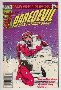 DAREDEVIL #182, NM-, DD vs Punisher, Guns, Shot, Frank Miller, more in store