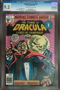 Tomb of Dracula 55 CGC 9.2 Marvel 1977