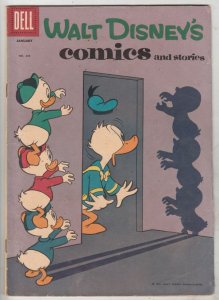 Comics and Stories, Walt Disney's #244 (Jan-61) FN Mid-Grade Donald Duck, Hue...