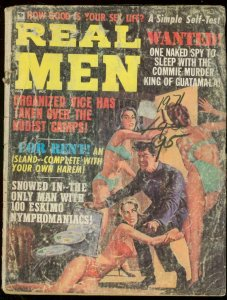 REAL MEN---JAN 1971-CHEESECAKE-CRIME-WAR-PULP-PIN UPS P/FR