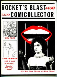 Rockets Blast & Comic Collector #150 1979-Rocky Horror-James Van Hise-Rosa-VF