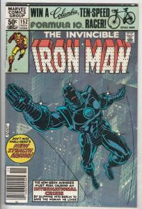 Iron Man #152 (Nov-81) VF/NM High-Grade Iron Man