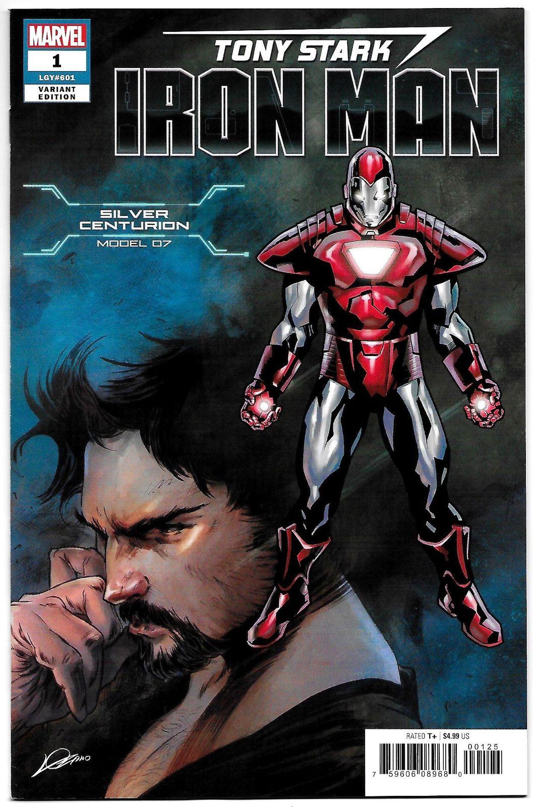 f6f840234d68 Tony Stark Iron Man  1 Silver Centurion Armor Variant (Marvel