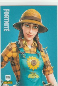 Fortnite Sunflower 129 Uncommon Outfit Panini 2019 trading card series 1
