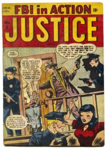 Justice #9 1948- Canadian edition- Golden Age Crime FN