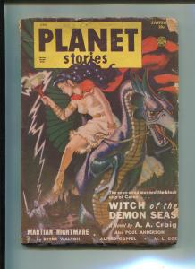Planet Stories Pulp January 1951-PAUL ANDERSON-BRYCE WALTON-G