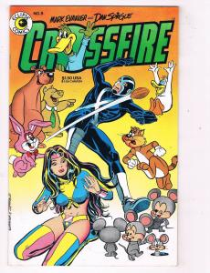 Crossfire #8 VF Eclipse Comics Comic Book Evanier 1984 DE47 AD33