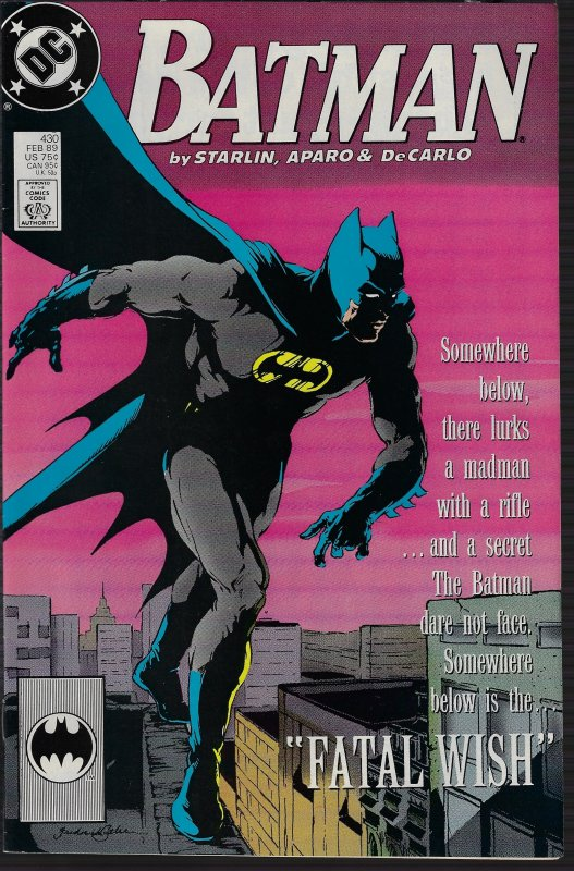 Batman #430 (DC, 1989) NM-