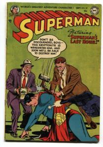SUPERMAN  #92-Kryptonite-1954-DC-comic book- Golden Age FN