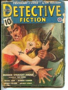 Flynn's Detective Fiction 8/1944-Popular-hardboiled crime pulp-Day Keene-Ray ...