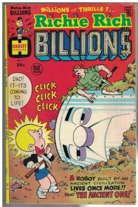 RICHIE RICH BILLIONS (1974-1982) 5 VG-F Aug. 1975