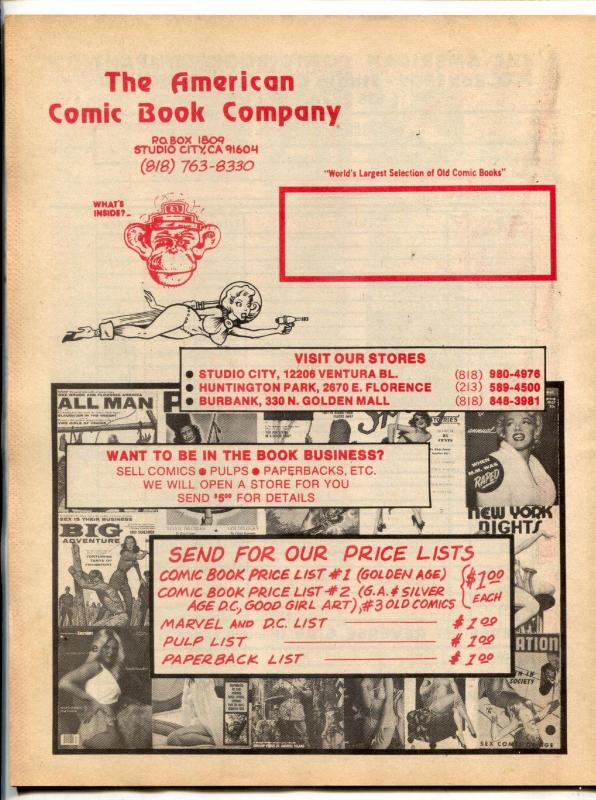 American Comic Book Co. Catalog Of Glamour 1978- magazine reference