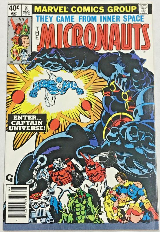MICRONAUTS#8 FN/VF 1979 FIRST CAPTAIN UNIVERSE MARVEL BRONZE AGE COMICS