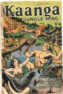 KAANGA #19-1954-JUNGLE THRILLS-TEDDY ROOSEVELT-DEATH OF PRE CODE