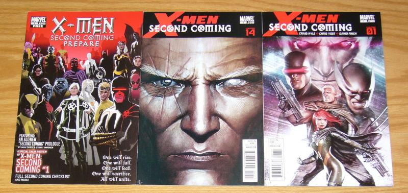 X-Men: Second Coming #1-2 VF/NM complete series + prepare - cable/hope set lot