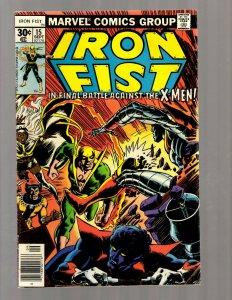 Iron Fist # 15 FN/VF Marvel Comic Book Luke Cage Power Man Defenders  RB8