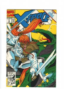 X-Force #6 NM- 9.2 Marvel Comics 1991 Rob Liefeld, Cable & Shatterstar