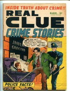 REAL CLUE CRIME STORIES VOL 6 #1 1951-HILLMAN-VIOLENT PRE-CODE CRIME-BIRO-good