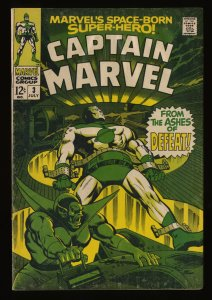 Captain Marvel (1968) #3 VG/FN 5.0 Comic