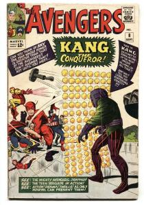 Avengers #8 Marvel comic book First appearance Kang 1964 Silver-age
