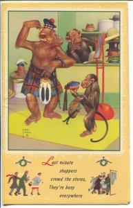 Lawson Wood-Monkeys-Salesman Sample Calendar Art 1951-folds out-FN