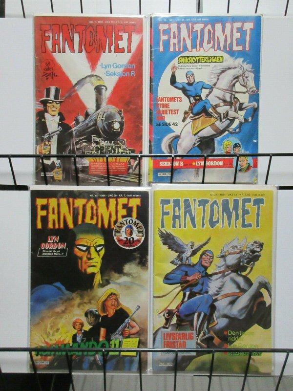 Fantomet Swedish Comic Magazine Lot the Phantom Mandrake Flash Gordon