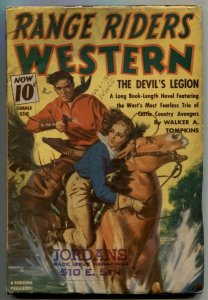 Range Riders Western Pulp Summer 1941- Devil's Legion VG