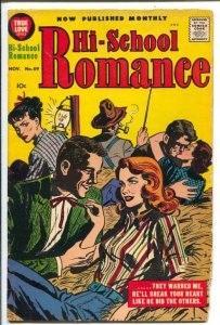 Hi-School Romance #69 1957- Harvey-hay ride cove-rspicy romance stories-Rare-VG-