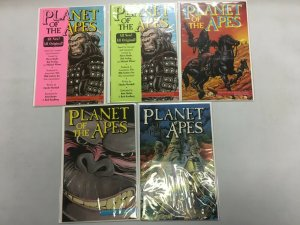 Planet of the Apes Adventure Comics Run #1-5 10 Diff Books AVG 8.0 VF (1990)
