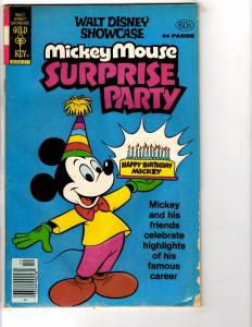 4 Mickey Mouse Dell Gold Key Comic Books #47 Surprise Party, Album #152 212 J207