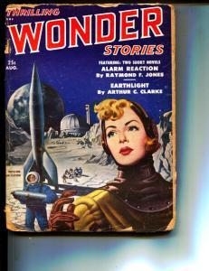 Thrilling Wonder Stories-Pulp-8/1951-Arthur C. Clarke-William Tenn