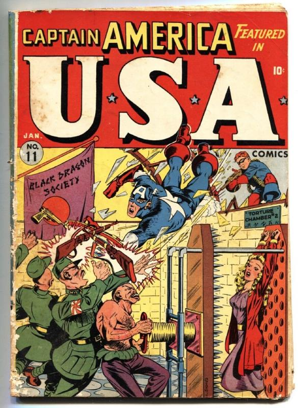 USA Comics #11-1944-Captain America-Bondage-Torture-WWII-Timely Golden-Age