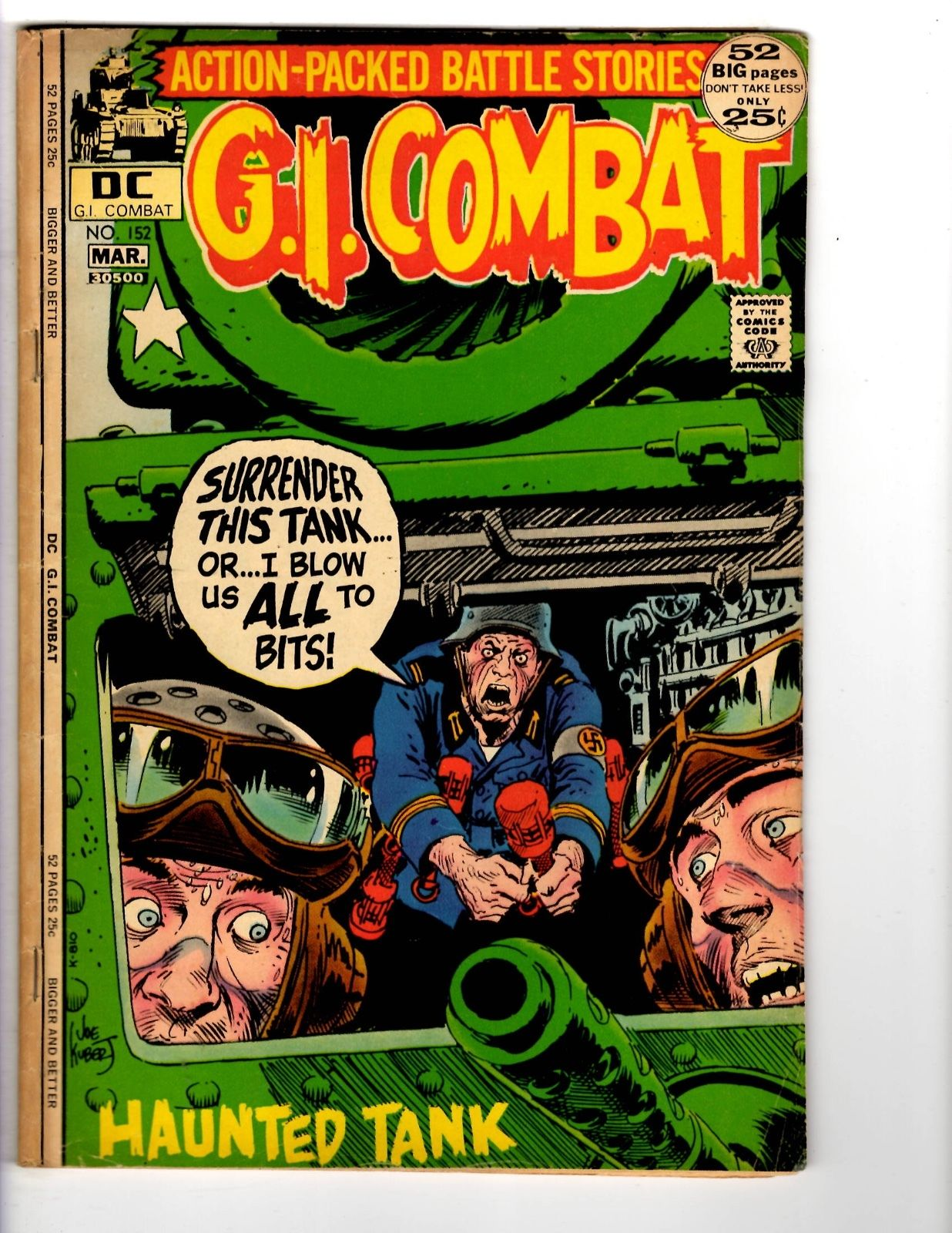 3 gi combat dc comic books 123 150 152 war comics wwii haunted save on more items publicscrutiny Choice Image