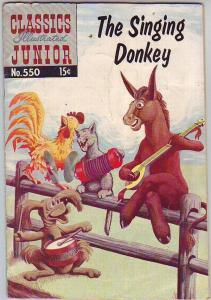 Classics Illustrated Junior #550 (May-58) GD Mid-Grade The Singing Donkey