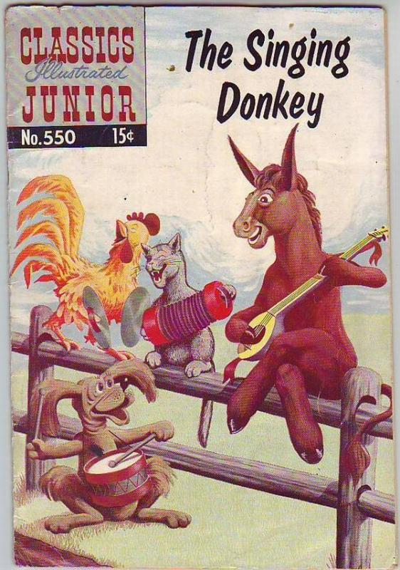 Classics Illustrated Junior #550 (May-58) GD Mid-Grade The Singing Donkey