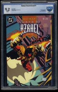 Batman: Sword of Azrael #1 CBCS NM- 9.2 White Pages