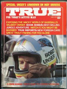 True  6/1973-Bobby Unser-Charlie O Finley-skydiving-computer scouting-VG