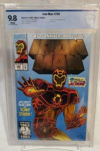 Iron Man #290 - CBCS 9.8 - WHITE PAGES - 30th Anniversary Gold Foil Cover