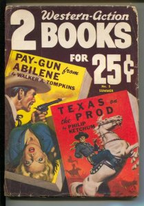 Two Western-Action Books-Summer 1951-Allen Anderson GGA cover-violent Pulp-Ph...