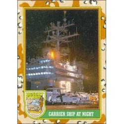 1991 Topps Desert Storm CARRIER SHIP AT NIGHT #55