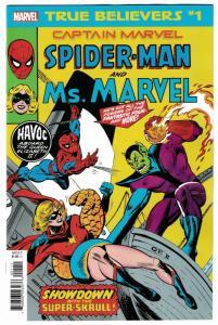 True Believers Captain Marvel Spider-Man & Ms Marvel #1 (Marvel, 2019) NM