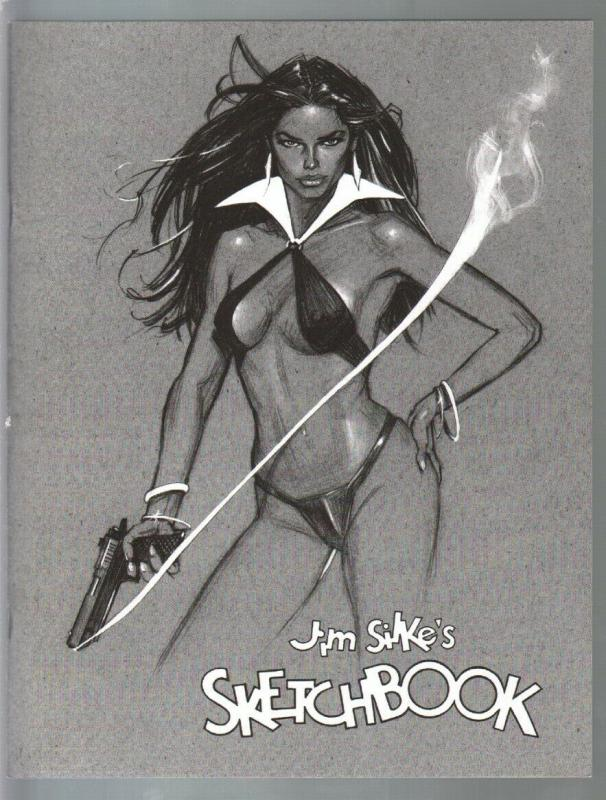 Jim Silke's Sketchbook-fullpage GGA imagery-Vampirella-Betty Page-NM