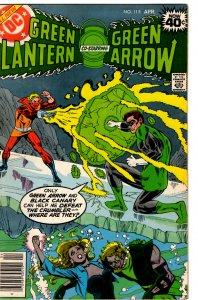 Green Lantern & Green Arrow #115 (1960 v2) Black Canary FN+