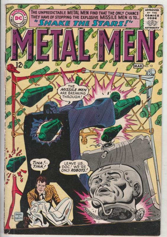 Metal Men #12 (Mar-65) FN+ Mid-High-Grade Metal Men (Led, Tina, Tin, Gold, Me...