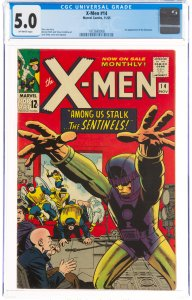 X-Men #14 (Marvel, 1965) CGC VG/FN 5.0 Off-white pages. First appearance of t...