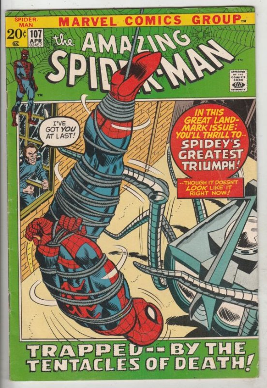 Amazing Spider-Man #107 (Apr-72) FN/VF Mid-High-Grade Spider-Man