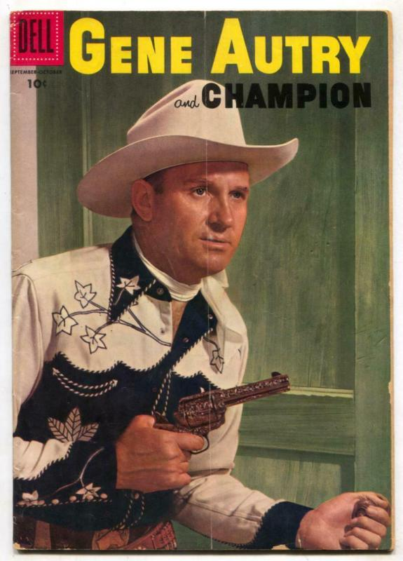 Gene Autry And Champion #111 1956- Dell Western VG-