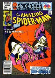 Amazing Spider-Man #223 VF- 7.5 Red Ghost and the Super-Apes!