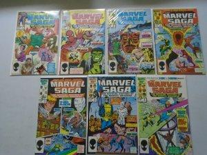 Marvel Saga lot 21 different from #1-24 8.0 VF (1985)