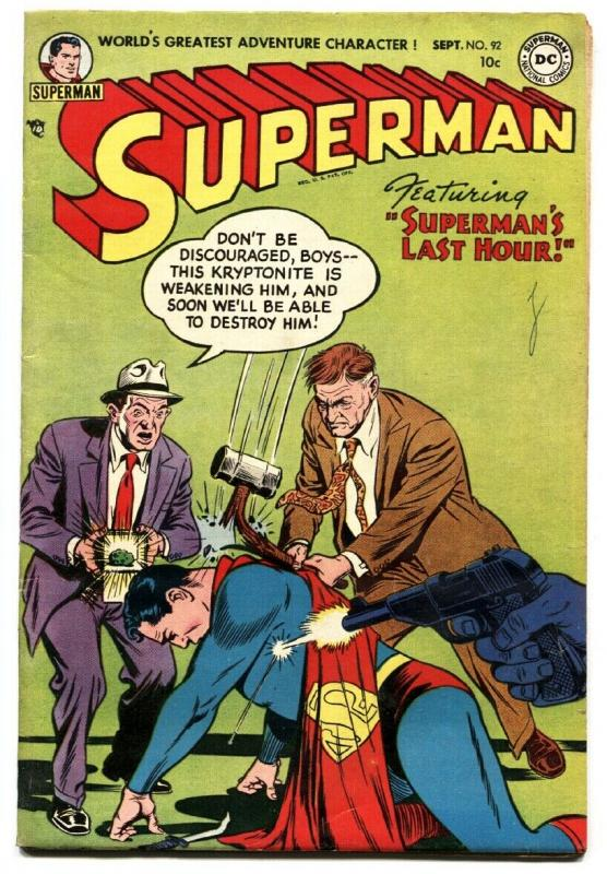 SUPERMAN  #92-1954-DC-comic book- Golden Age FN+